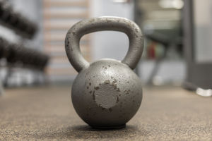 rocfit-Close-up of kettlebell in gym