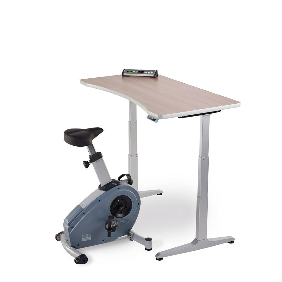 C3 Dt3 Exercise Bike Under Standing Desk